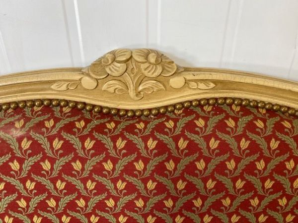 Upholstered Vintage French Double Bed - g169